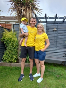 Claire Donal and Brin in Cystinosis Ireland tshirts